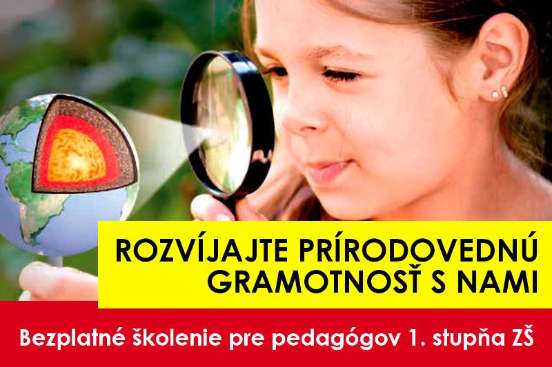 Rozvíjajte prírodovednú gramotnosť s nami