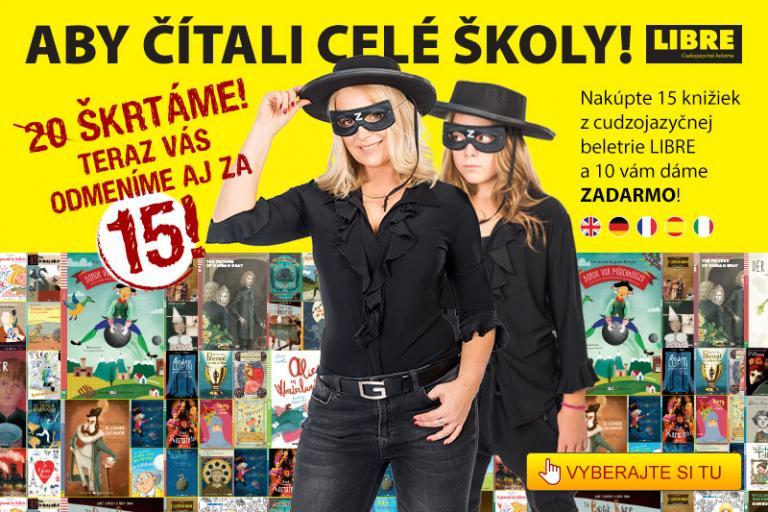 Aby čítali celé školy! Tak znie názov akcie nakladateľstva Raabe Slovensko, vďaka ktorej si na školách prilepšia.